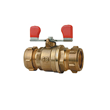 Conex Valves LEVER BALL VALVE WITH RED T HANDLE 1211