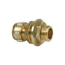 Conex Compression EXTENDED MALE STRAIGHT CONNECTOR WITH BACK NUT 302B