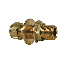 Conex Compression EXTENDED MALE STRAIGHT CONNECTOR WITH BACK NUT 302CB