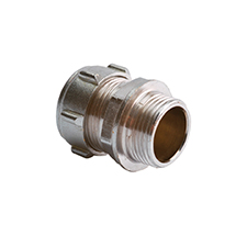 Conex Compression Chrome Plated MALE STRAIGHT COUPLER 302CP