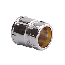 Conex Compression Chrome Plated FEMALE STRAIGHT COUPLER S303SFCP