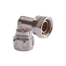 Conex Compression Chrome Plated BENT TAP CONNECTOR S403SFCP