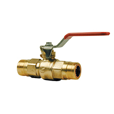 Cuprofit : Raccords Push-fit à clipser LEVER BALL VALVE R204