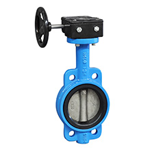 Industrial Butterfly Valves Wafer Butterfly Valves (304 Disc),  Gear Operated, PN16 BWGX