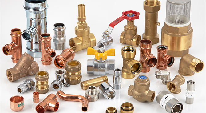 Plumbing fittings domestic commercial industrial for Types of plumbing pipes materials