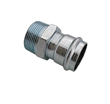 >B< Press Carbon Steel STRAIGHT MALE CONNECTOR PC3