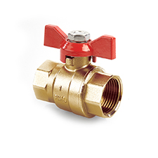 Quarter Turn Valves QT Ball Valve Brass PN40 F x F Tee 1215